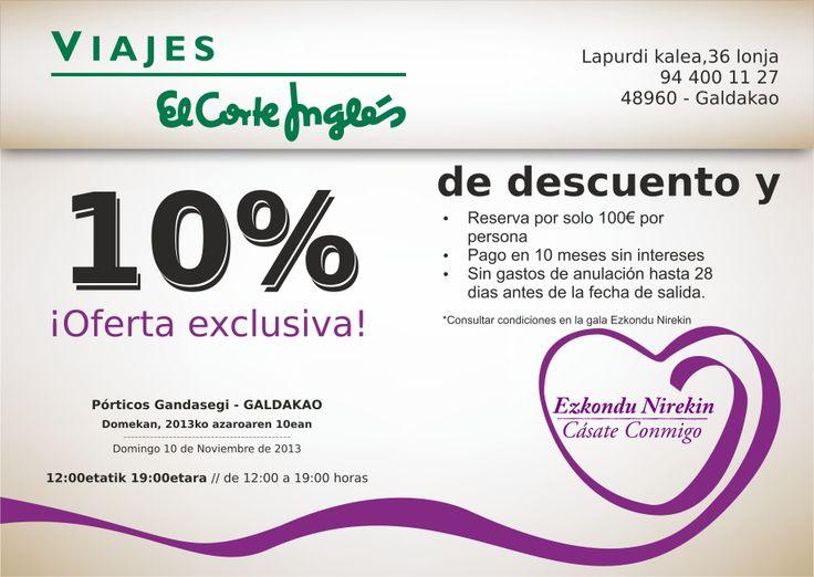 Ofertas exclusivas El Corte Ingles Viajes Galdakao