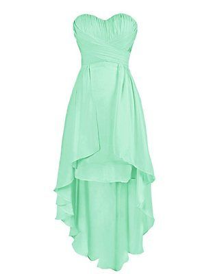 New High Low Bridesmaid Dresses Sweetheart Beach Wedding Party Gowns Plus Size
