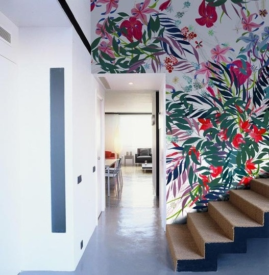 tropical hallway