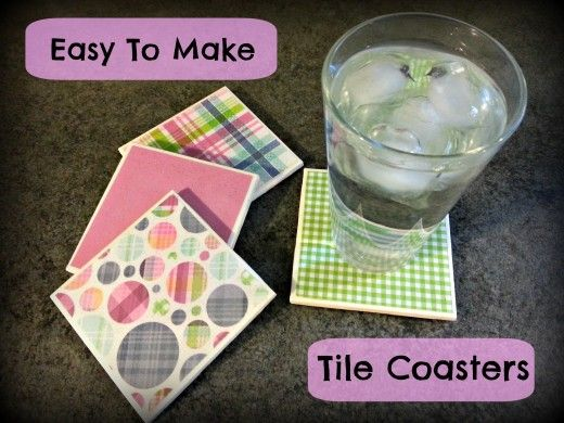 Custom made tile coasters can be made to suit any decor.