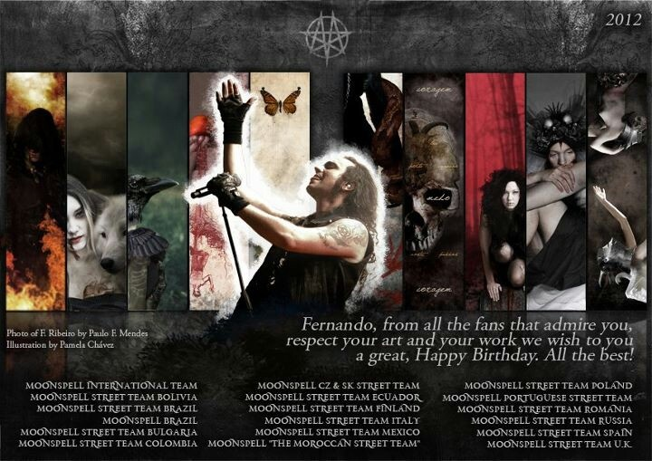 Happy birthday Fernando Ribeiro #moonspell