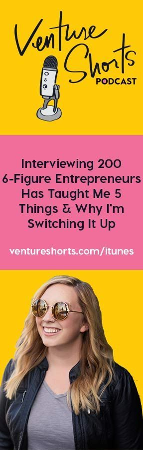Interviewing 200 6-Figure Entrepreneurs Has Taught Me 5 Things & Why I'm Switching It Up - EPISODE 150 So today I get to share with you something new and SUPER exciting. This podcast will still have amazing info on starting, growing & monetizing your online business but instead of it being 100% interviews it's going to be 90% solo episodes from me breaking things down like my multiple 6 figure launches, how I've grown my email list to tens of thousands of followers, and more.