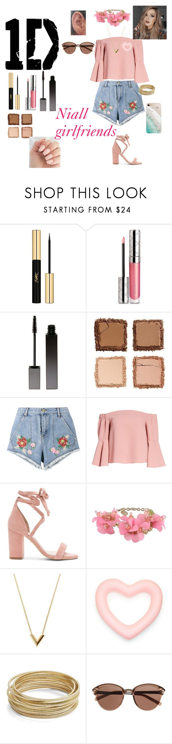 """""""Niall's Girlfriends"""" by marinecollin on Polyvore featuring mode, Yves Saint Laurent, By Terry, Serge Lutens, Urban Decay, House of Holland, Topshop, Raye, RED Valentino et Louis Vuitton"""