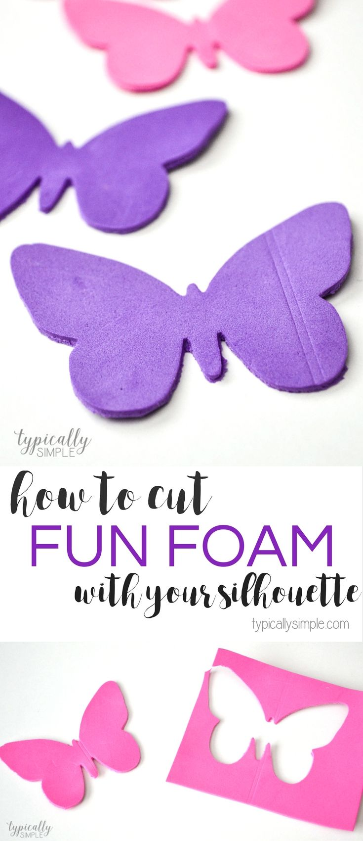 Learn how to cut foam with your Silhouette Cameo to create cute pencil toppers, craft projects, and more! Includes the cut settings for your machine.