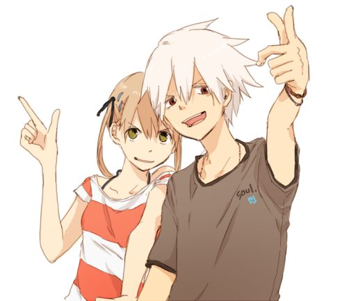 Adorable dorks <3 Soul x Maka from Soul eater
