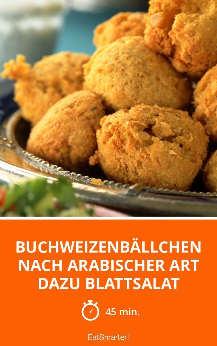 Buchweizenbällchen nach arabischer Art dazu Blattsalat - smarter - Zeit: 45 Min.   eatsmarter.de