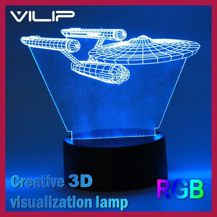2017 Hot 3D Led Night Light Novelty Star Trek Bulbing USB Touch Switch Table Lamp Star Wars Luminaria de Mesa Home Decor Gift
