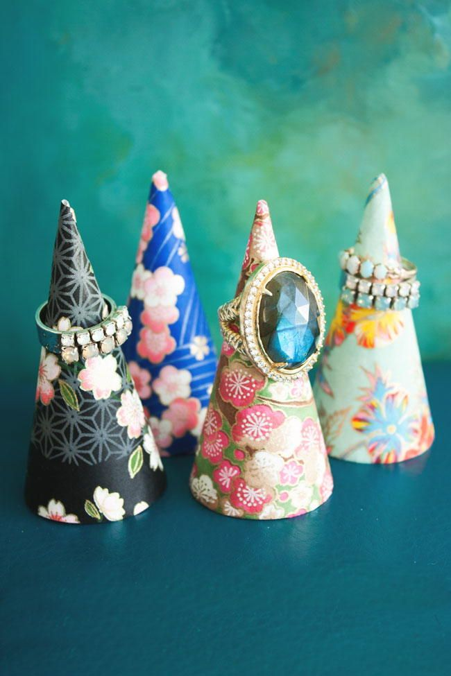 DIY Ring Cones | Make one of these beautiful ring cones and keep your shiny bauble safe and protected.