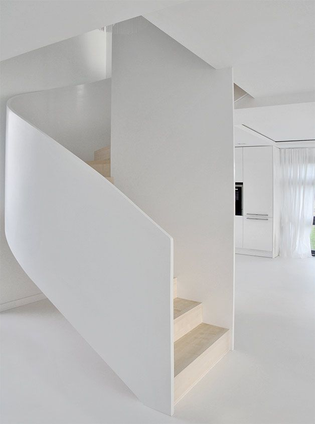 PULVA, minimalistic, interior design, minimal, modern, materials, home, homestyle, house, dom, light, details, texture, white, pure, stairs