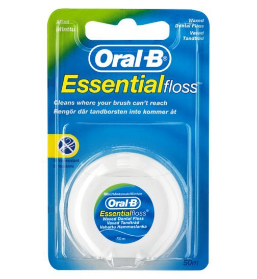 Oral B Essential Floss | Mint Waxed 5m Dental Floss - Boots