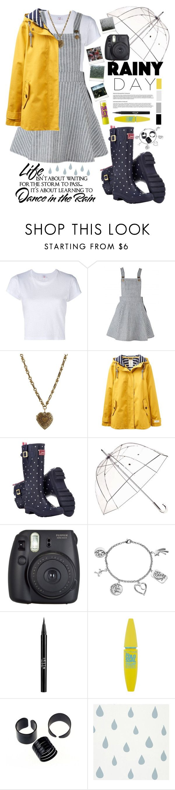 """""""Rainy Day"""" by alltimegabi ❤ liked on Polyvore featuring RE/DONE, Etro, Joules, Totes, Fuji, Polaroid, Love This Life, Stila, Maybelline and cute"""