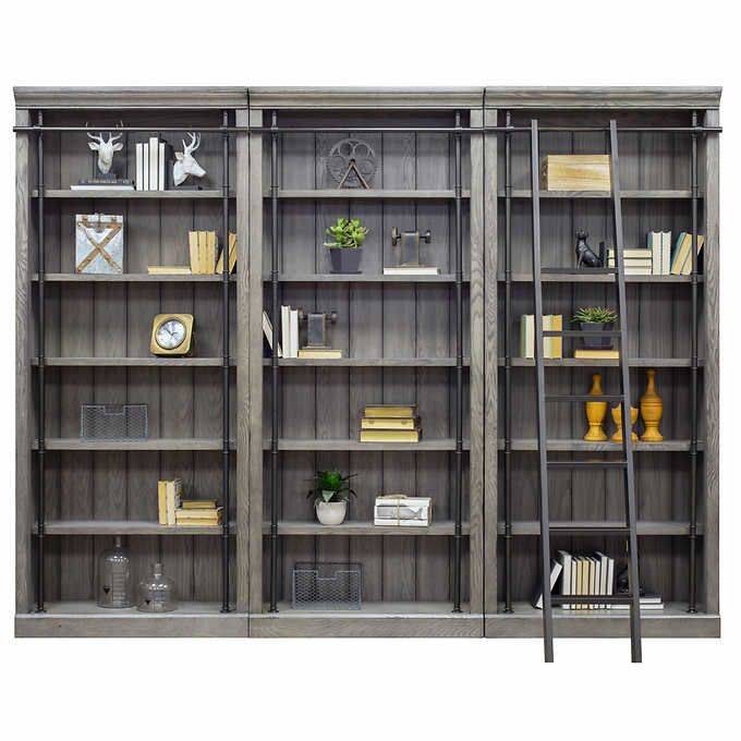 Tuscan 3 Piece Bookcase Wall And Ladder Bookcase Wall Martin Furniture Bookcase
