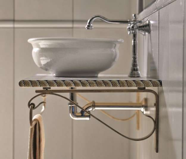 Bagni rustici: le foto dei più belli - Lavabo tradizionale nel bagno rustico