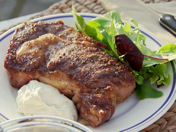 Get Steaks and Stilton Sauce Recipe from Food Network