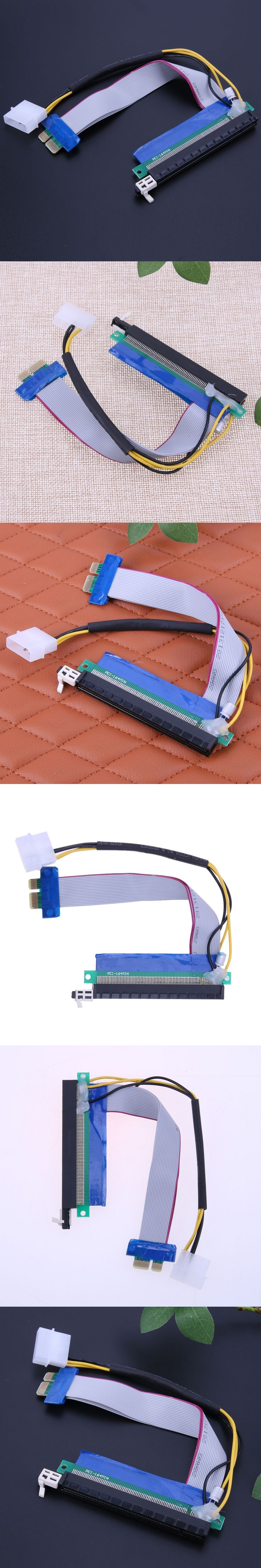 Upgraded extender cable PCI-E 1X 16X Flexible Extension Adapter PCI-E Extender Converter Riser Cable for Bitcoin Miner