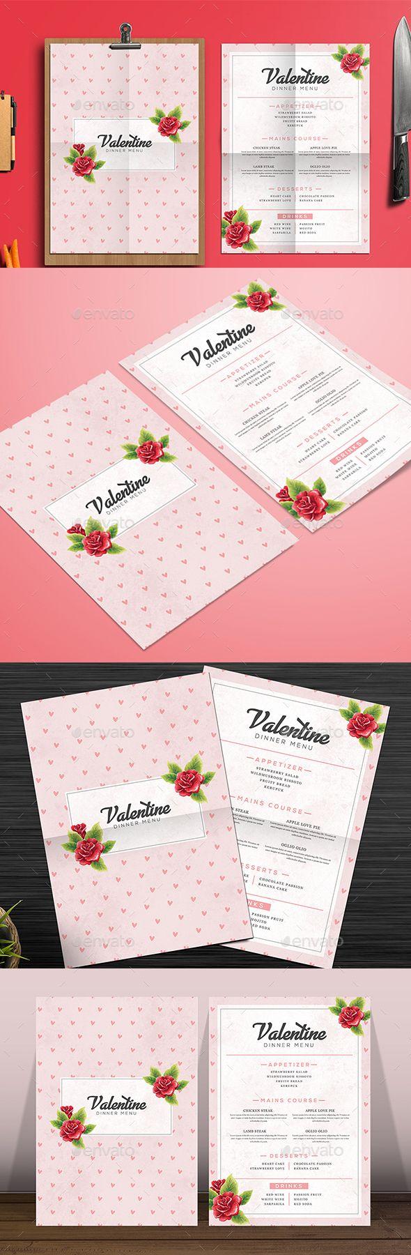 Valentine Food Menu - Food Menus Print Templates Downlaod here : https://graphicriver.net/item/valentine-food-menu/19397840?s_rank=11&ref=Al-fatih