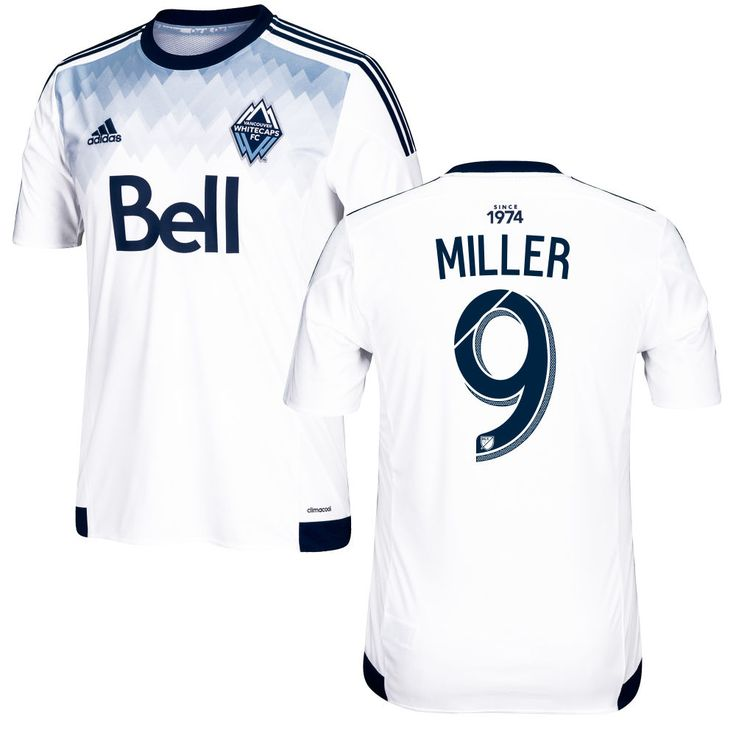 Kenny Miller 9 Vancouver Whitecaps FC 2016/17 Home Soccer Jersey Deep Sea White