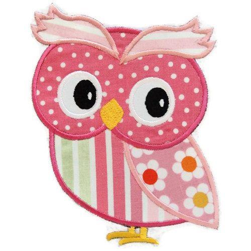 Girl Owl Machine Embroidery Applique Design