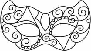 Masquerade | Urban Threads: Unique and Awesome Embroidery Designs