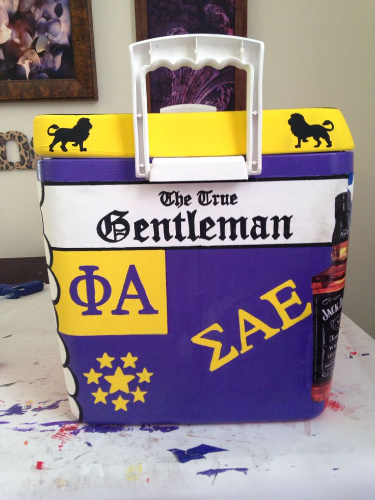 Cooler I painted for a Sigma Alpha Epsilon from the University of Miami