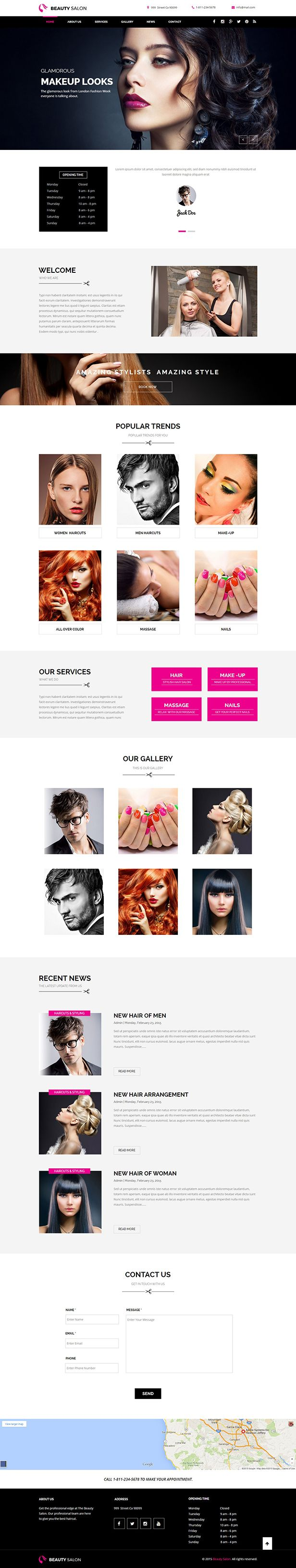 Beauty Salon Muse Template  Good to see you here! Beauty Salon Muse Template is a muse template for anyone who wants beauty salon, hair salon and barber website and you need to use Adobe Muse to edit the theme.