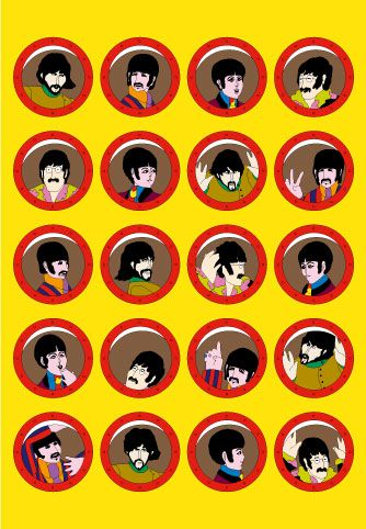 To celebrate the Beatles' 50th anniversary 50by70 has published the first ever set of fine art prints of the stunning artwork from the classic 1968 animated film Yellow Submarine. £395.00