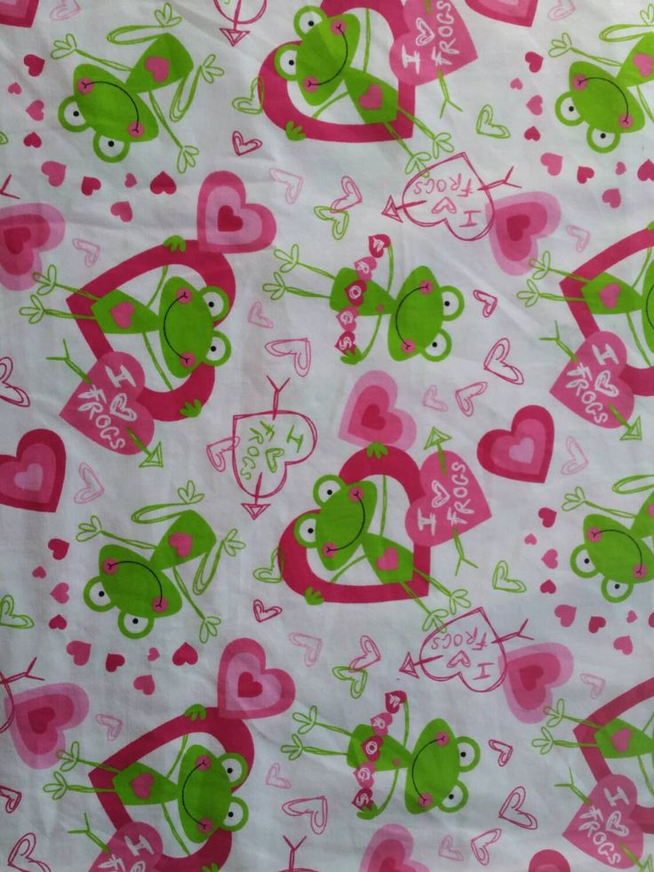 Quilters fabric with frogs hearts sewers sewing project quilting  material for sewing BTY 1 yard #frog, #heart, #fabric - pinned by pin4etsy.com
