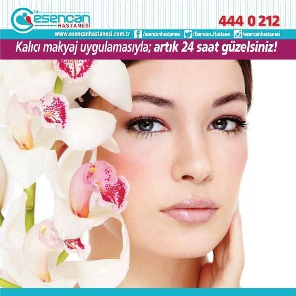 Kalıcı makyaj uygulamasıyla artık 24 saat güzelsiniz!  24 saat canlı, sağlıklı ve güzel görünmek için siz de Özel Esencan Hastanesinin uzmanlığı ile Medikal Kalıcı Makyaj uygulamasından yararlanın.