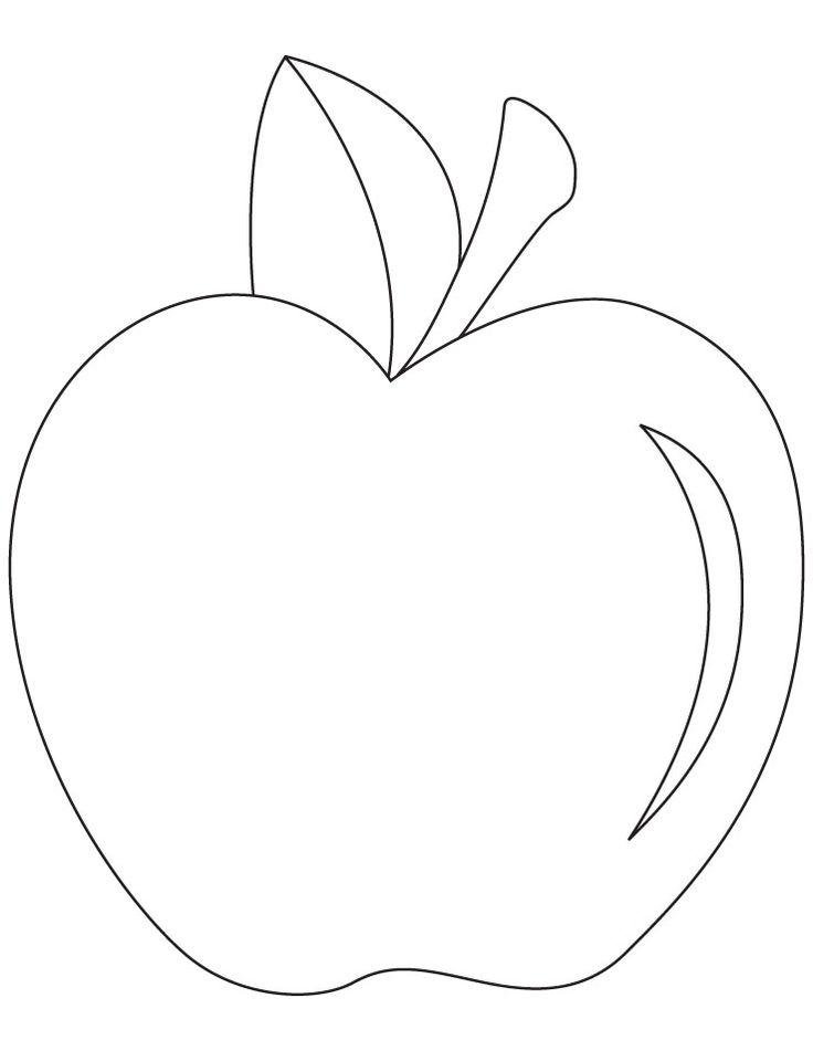 Шаблоны яблока для раскрашивания