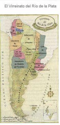 MAPOTECA VIRTUAL: MAPA DEL VIRREINATO DEL RIO DE LA PLATA: GOBERNACIONES E INTENDENCIAS