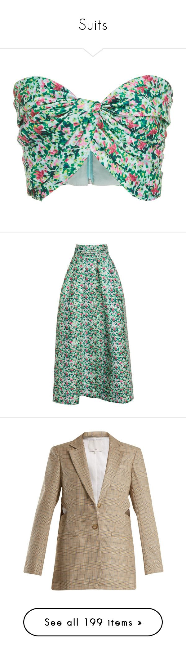 """Suits"" by bliznec ❤ liked on Polyvore featuring tops, sweetheart bandeau top, green bandeau top, vintage crop top, sweetheart neckline tops, sweetheart neck top, skirts, green a line skirt, a-line maxi skirts and high waisted a line skirt"