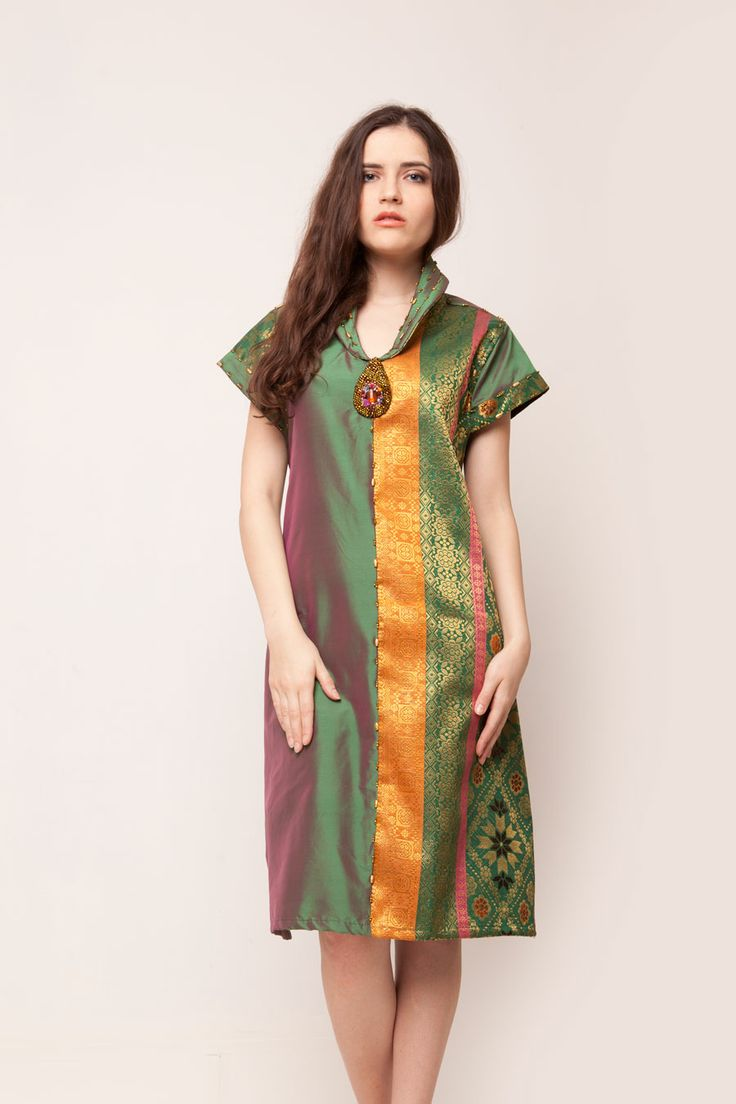 Green Songket Dress