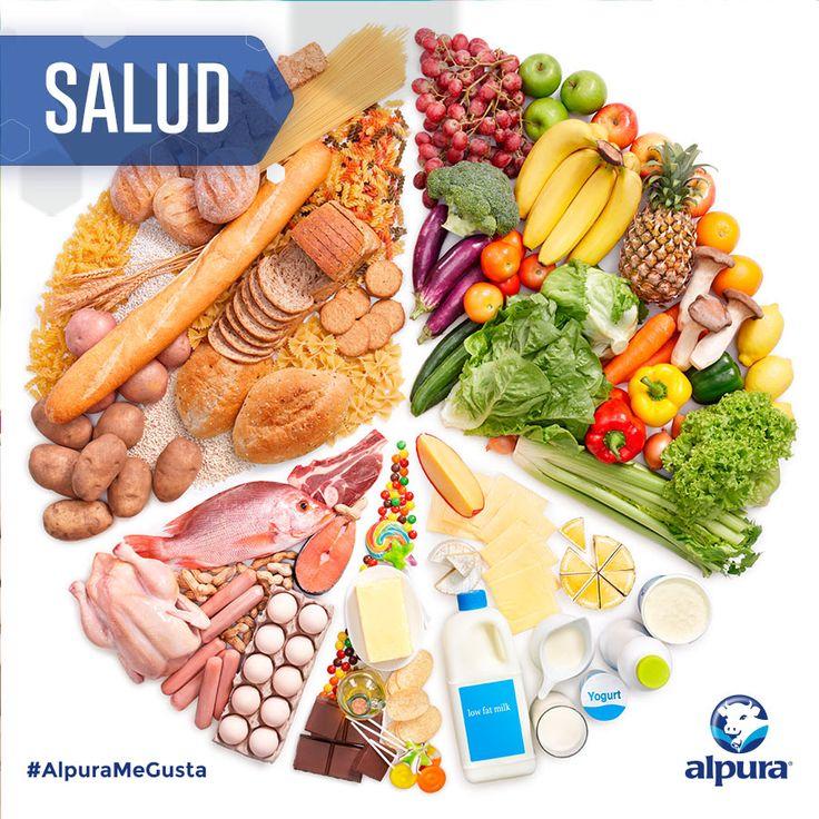 """""""El Plato del buen comer"""" es una representación gráfica de los grupos de alimentos que funciona como guía alimentaria. Esto quiere decir que su objetivo es proporcionar las recomendaciones para lograr una alimentación correcta entre la población general. ¡Conócelo aquí! #VidaSaludable #Salud #Alimentacion #AlpuraMeGusta #Alpura"""