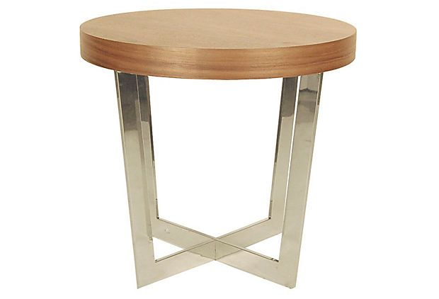Oyster Side Table, Walnut on OneKingsLane.com