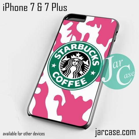 Starbucks Pink Camo Phone case for iPhone 7 and 7 Plus