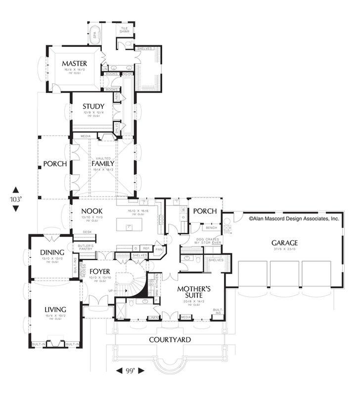 Mascord House Plan 2446 The Toussaint House Plans European House European House Plan