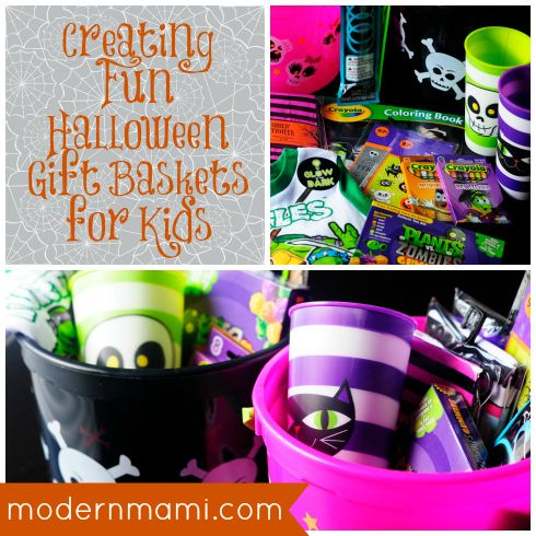 Halloween Gift Baskets for Kids, simple and fun idea for celebrating #Halloween with #kids!