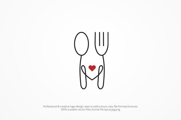 food love logo template Logo design love Food logo design Baking logo design