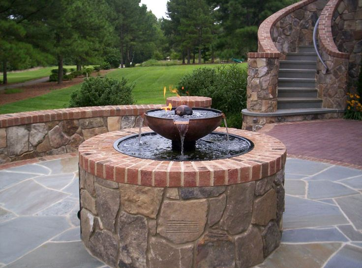 17 best images about outdoor fire pit gallery on pinterest for Fire pit water feature combo