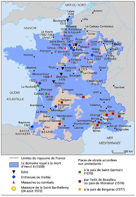 Le 8 octobre 1577 est publié l'édit de Poitiers qui signe la fin de la sixième guerre de Religion en France. Favorable aux catholiques, la sixième guerre se termina par la paix de Bergerac, le 14 septembre 1577. Elle fut entérinée par l'édit de Poitiers...