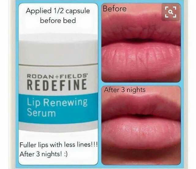 Allure magazine praised Rodan + Fields Lip Serum for it's ability to reduce the appearance of those pesky lip lines WITHOUT the need for painful and expensive collagen injections. Rich with peptides and antioxidants, including vitamin E, to help lips retain their natural moisture, visibly smooth lip texture and reduce the appearance of lip wrinkles. *Roll your lips and mouth area first with our AMP MD Roller, then apply Lip Renewing Serum for enhanced results!