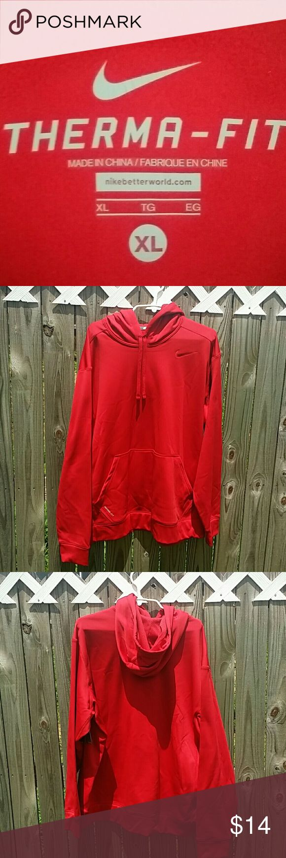 MEN'S THERMA HOODIE ( New ) MEN'S THERMA HOODIE ( red color is a little darker than photo ) Nike Jackets & Coats