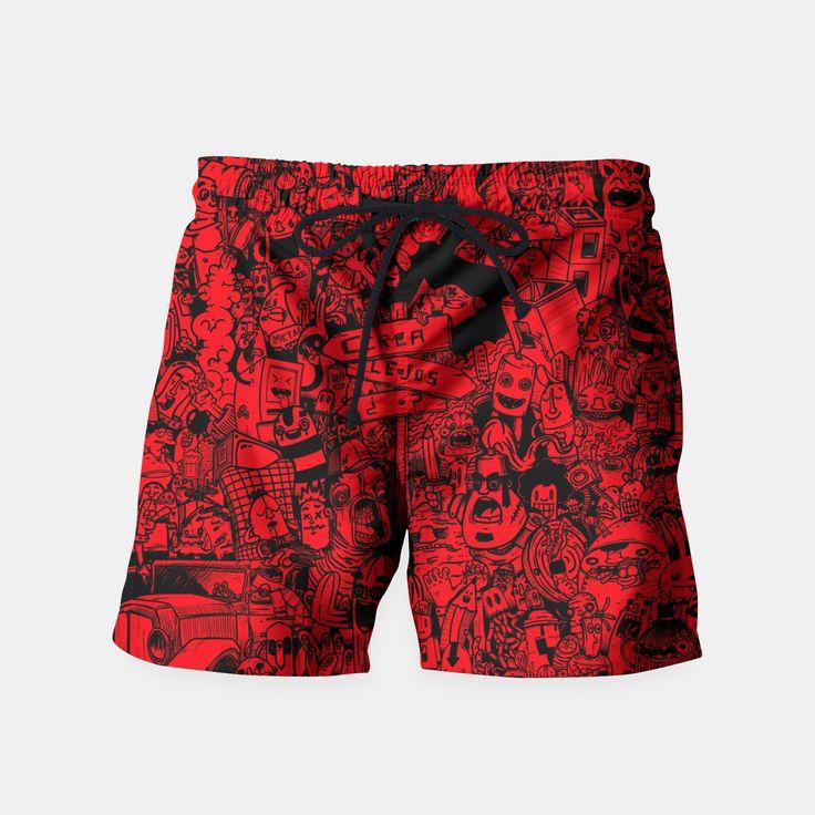 red mashup Pantalones de baño, Live Heroes
