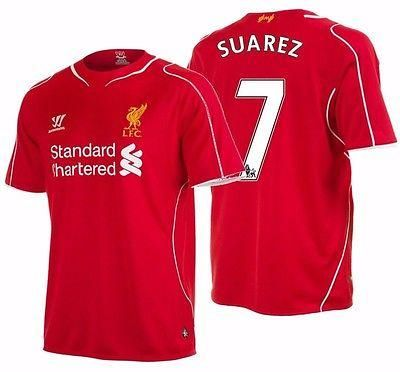 0b67b0a14 Liverpool New Away Kit 14 15 Warrior luis suarez liverpool fc home jersey  201415 ...