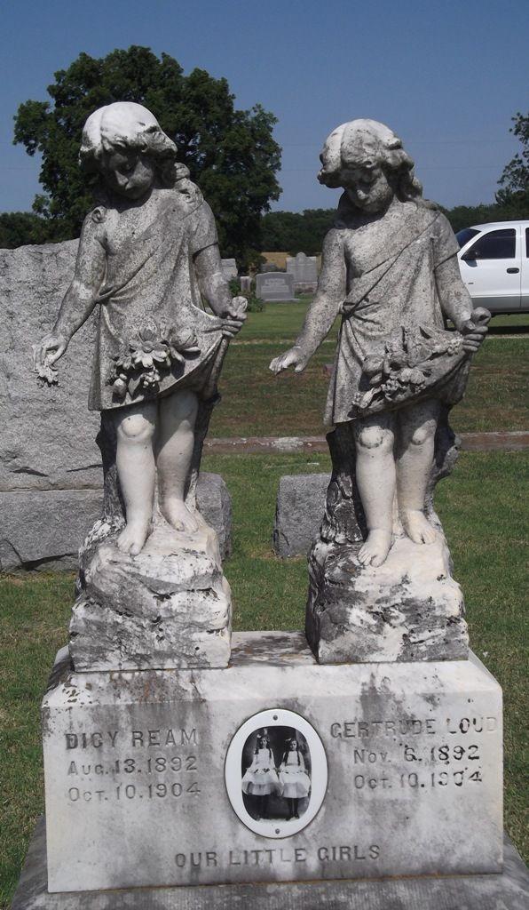 Cousins Gertrude Loud and Dicy Ream, killed Oct 10, 1904 when on a train trip to see the 1904 World's Fair at St. Louis. On the morning of Oct 10 the train on which they rode collided head-on with a freight train 3 miles east of Warrensburg, Missouri. 29 people were killed.: