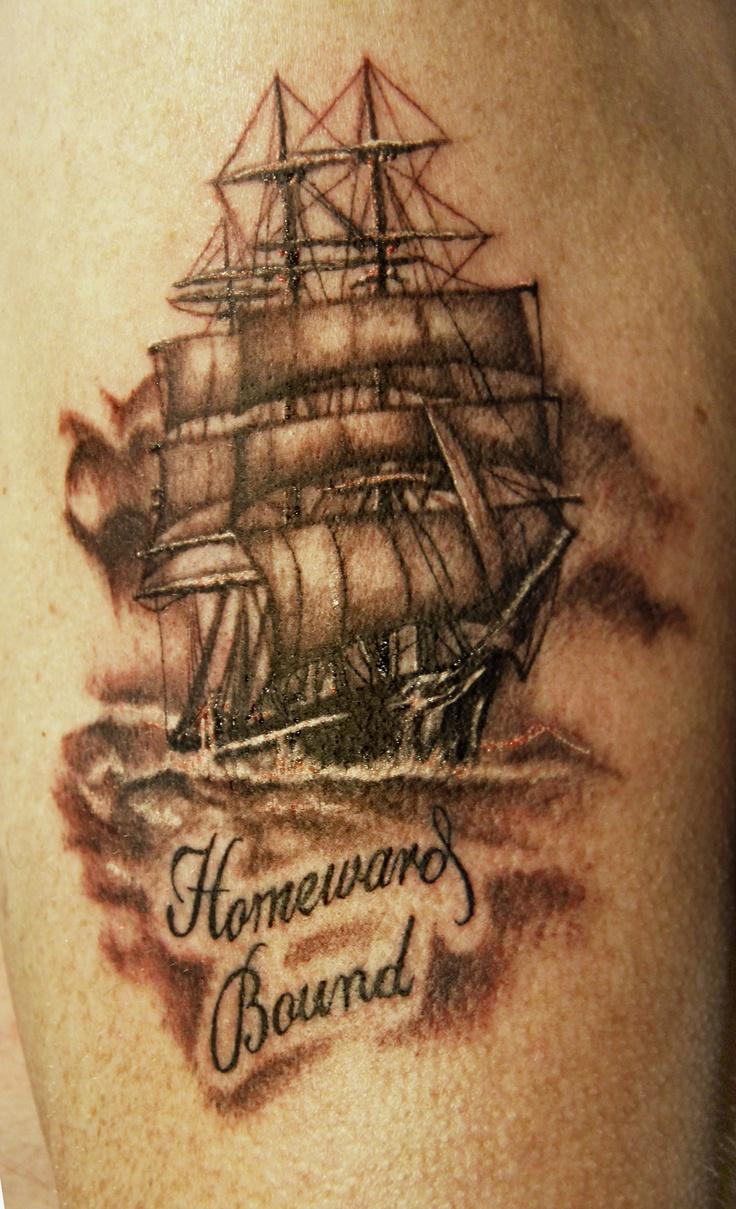 Tall Ship Tattoo | Jamie Murphy - The Armoured Scorpion ...