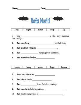 Bats World Worksheet
