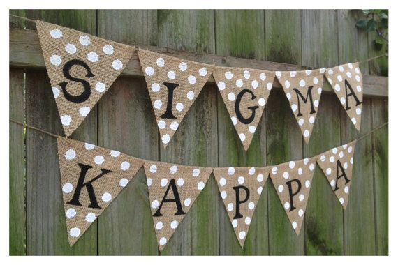 Sorority Burlap Banner Custom Sorority Banner by TwoDoodlesDesigns, $32.00
