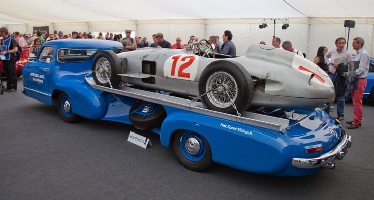 Pinned for the towtruck factor :) Fangio's Silver Arrows Mercedes breaks auction world record