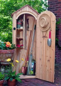 Perfect place to stash tools if you have a small yard.